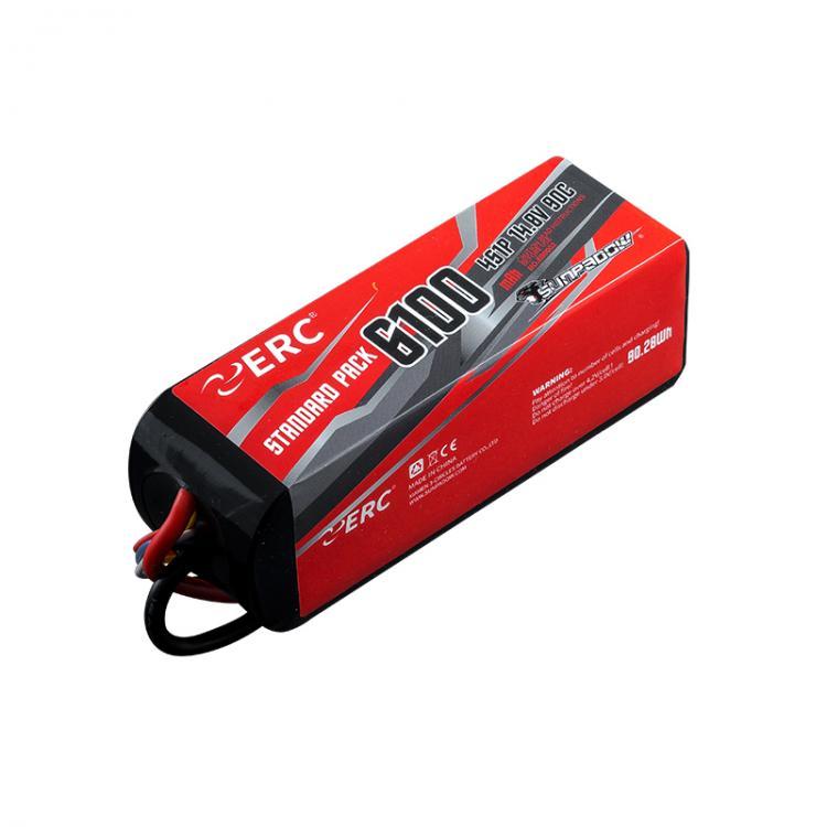 SUNPADOW 6100mAh 4S1P 14.8V 90C ERC Lipo Battery